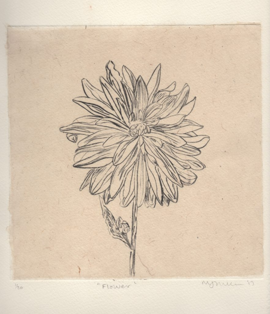 drypoint with Chine collection